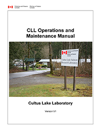 Cultas Lake Laboratory Operations and Maintenance Manual