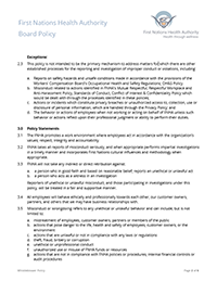 First Nations Health Authority Human Resources Policies and Procedures
