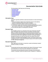 Seaspan Marine Documentation Style Guide