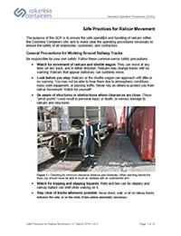 Columbia Containers Standard Operating Procedures