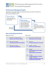 Vancouver Airport Authority Performance Management Form