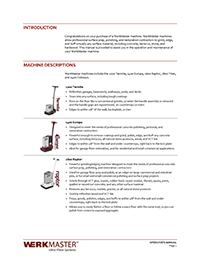 WerkMaster Operator's Manual
